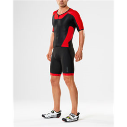 X-VENT FULL ZIP TRISUIT BLACK-TEAM RED