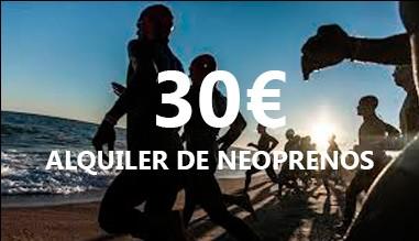 ALQUILER DE NEOPRENOS 30€