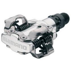 PEDALES SHIMANO M520 SPD PLATA CON CALAS SM-SH51 EDPM520S
