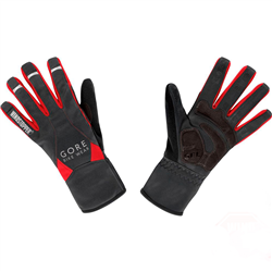 UNIVERSAL WINDSTOPPER MID GLOVES BLACK-RED GWMPOW9935