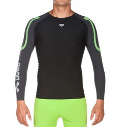 CAMISETA M-L CARBON COMPRESSION LONG SLEEVE BLACK 1D143