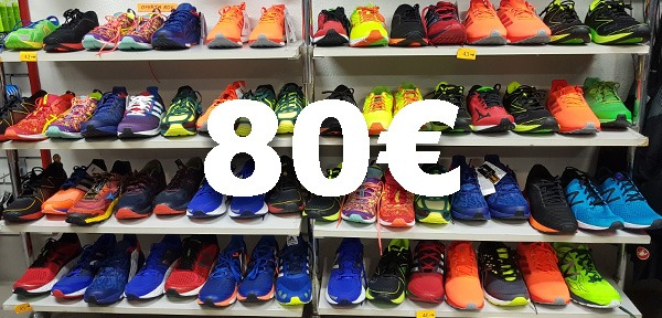 STOCK PERMANENTE DE ZAPATILLAS A 80€